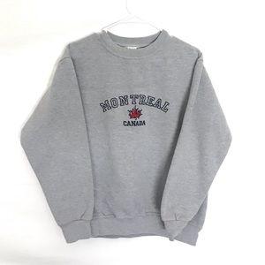 VTG Montreal Canada crewneck sweatshirt